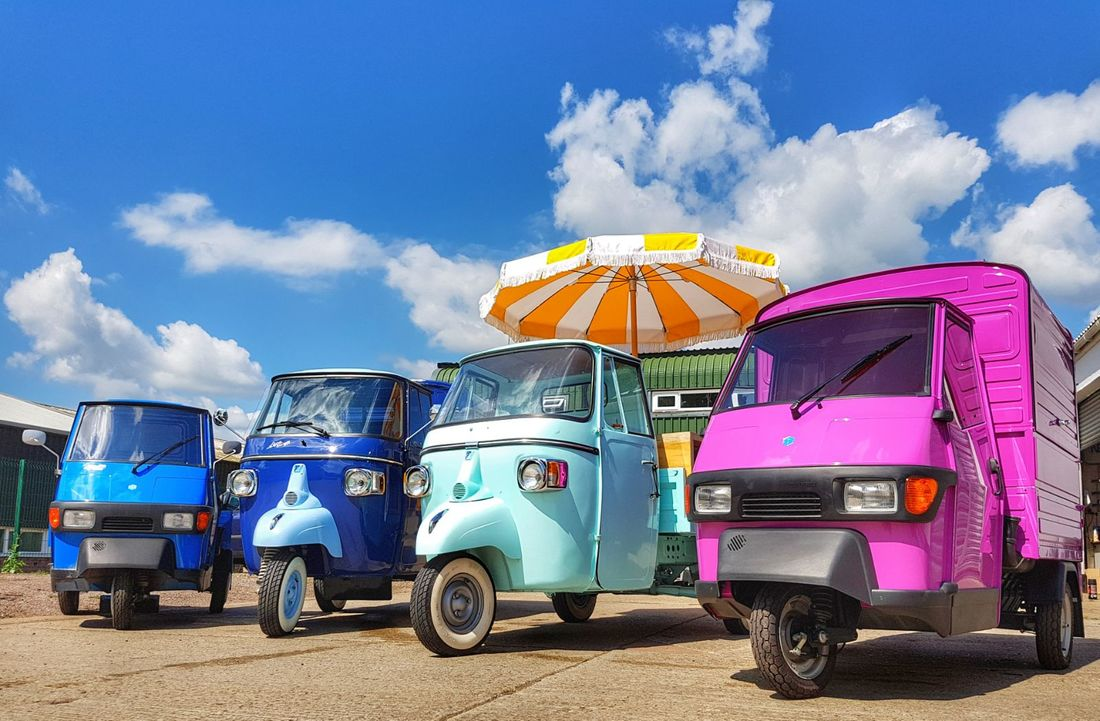 piaggio ape 3 wheeler van sales and hire from the uk's largest